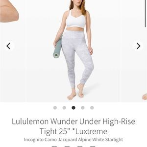 Lululemon Wunder Under High Rise Tight